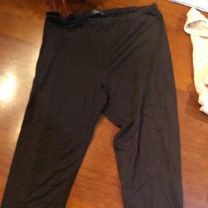 Brown crop leggings